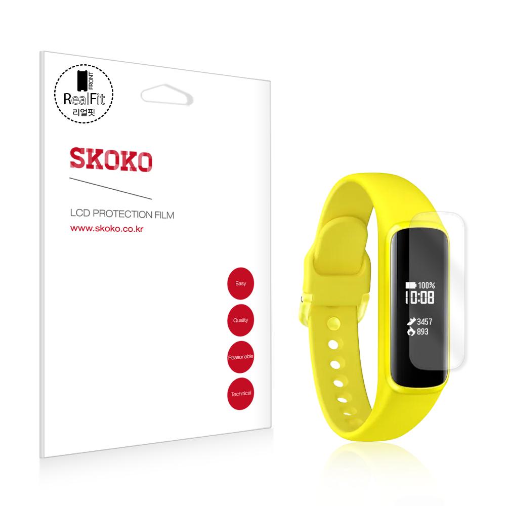 스코코 삼성 갤럭시 핏e 리얼핏 액정보호필름 2p, 단일색상, 1세트