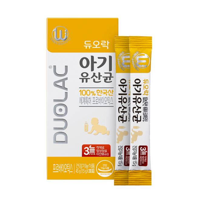 듀오락 아기 유산균 프로바이오틱스, 1.5g, 30개
