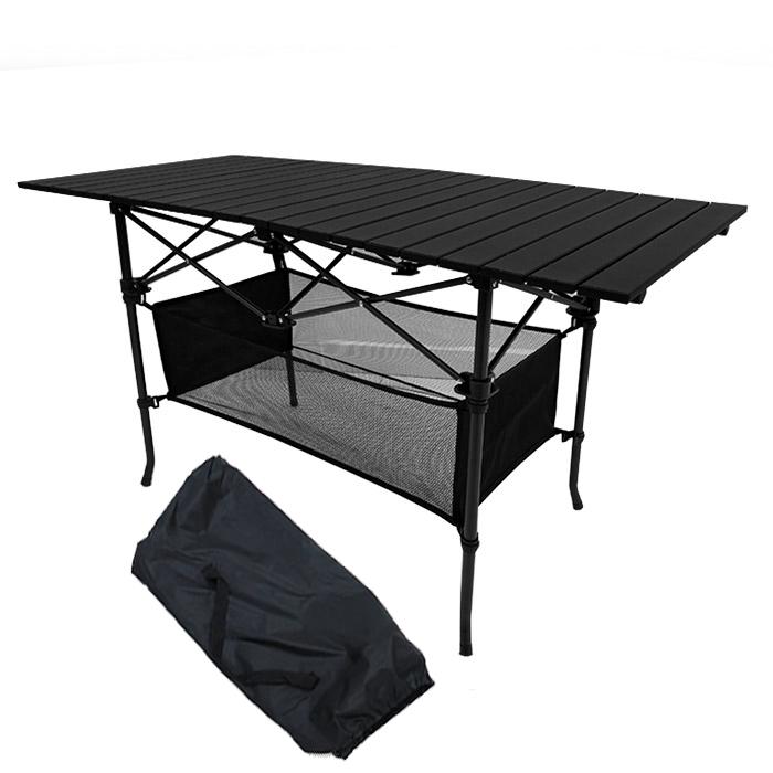 조아캠프 시스템 캠핑 테이블 OT124 + 보관가방, 블랙