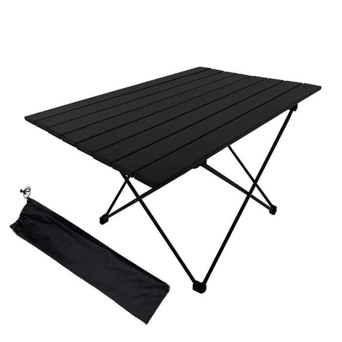 조아캠프 롤 캠핑 테이블 OT118 + 보관가방, 블랙