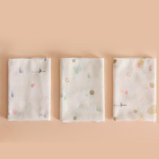 밤부베베 순한대나무 솜사탕 거즈손수건 디자인 3종 x 2p세트