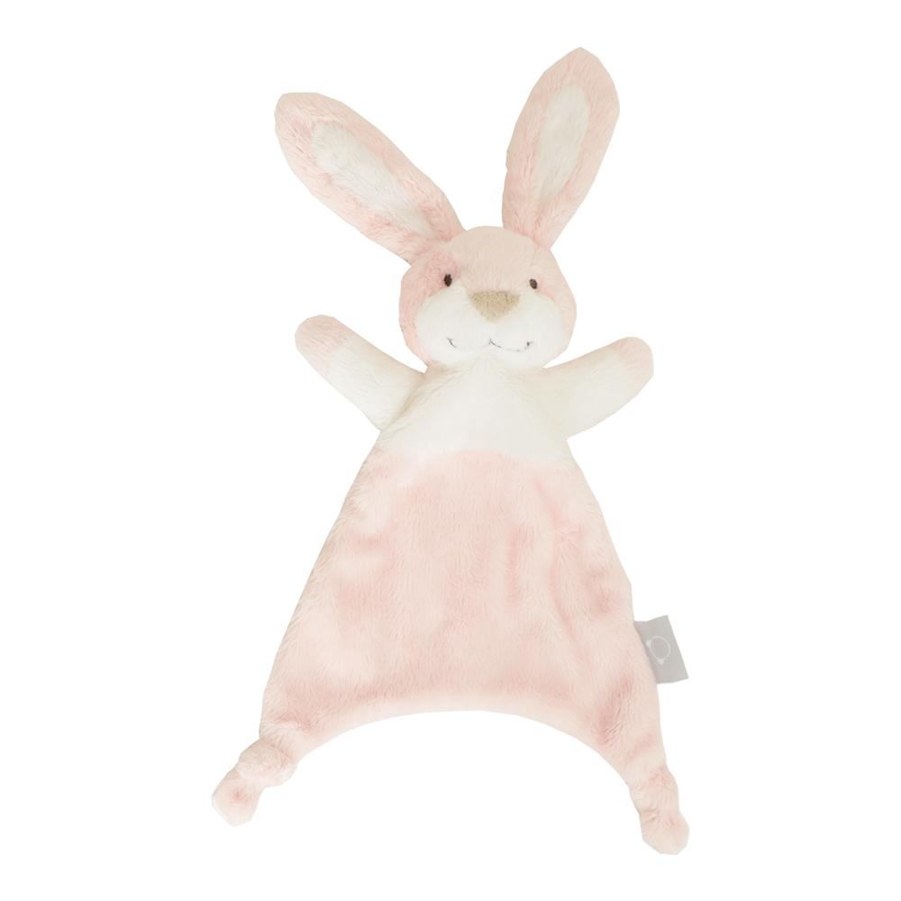 매듭 토끼 애착손수건, 핑크