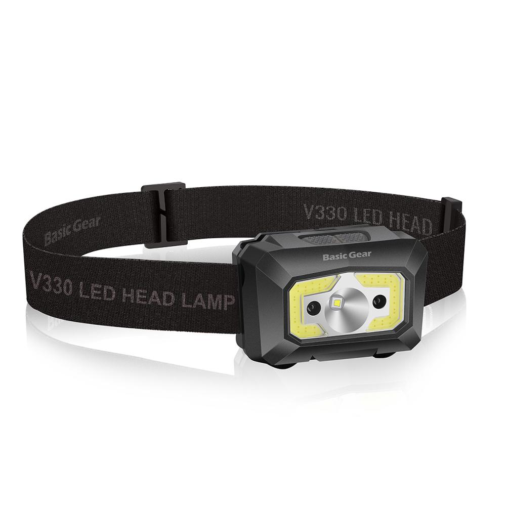 베이직기어 충전식 LED 헤드랜턴 BG-V330, 혼합색상, 1개