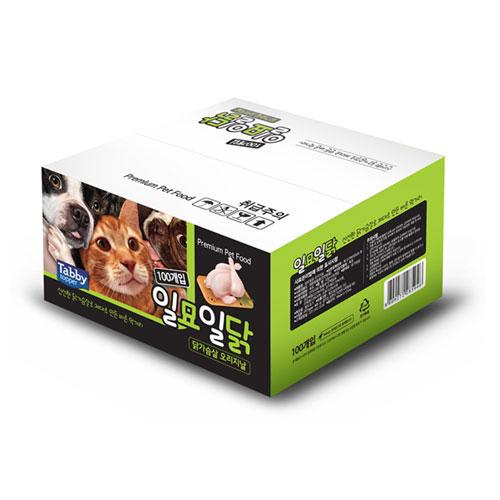 테비 일묘일닭 오리지날 고양이 간식 닭가슴살 22g, 100개