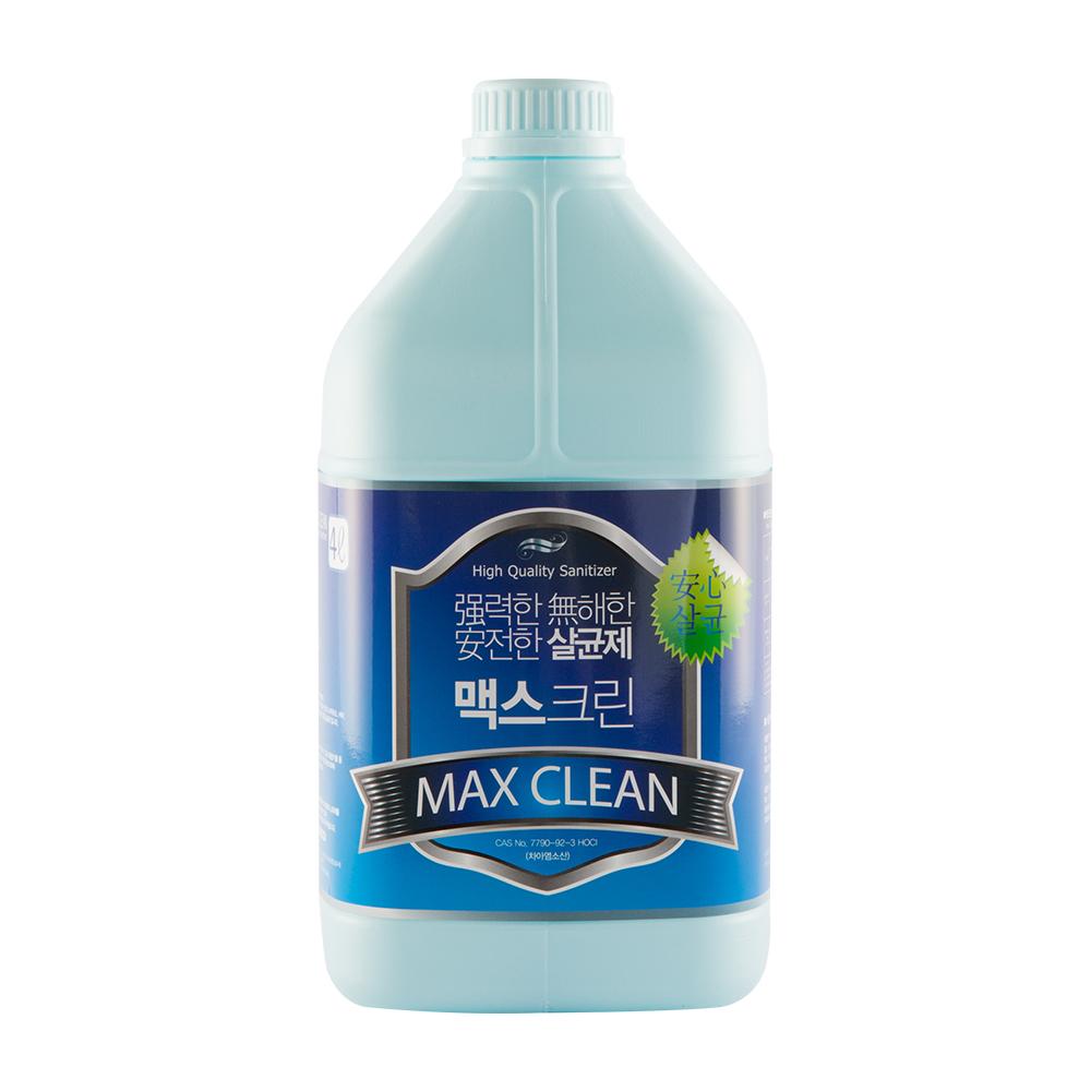 맥스크린 살균소독제, 4L, 1개