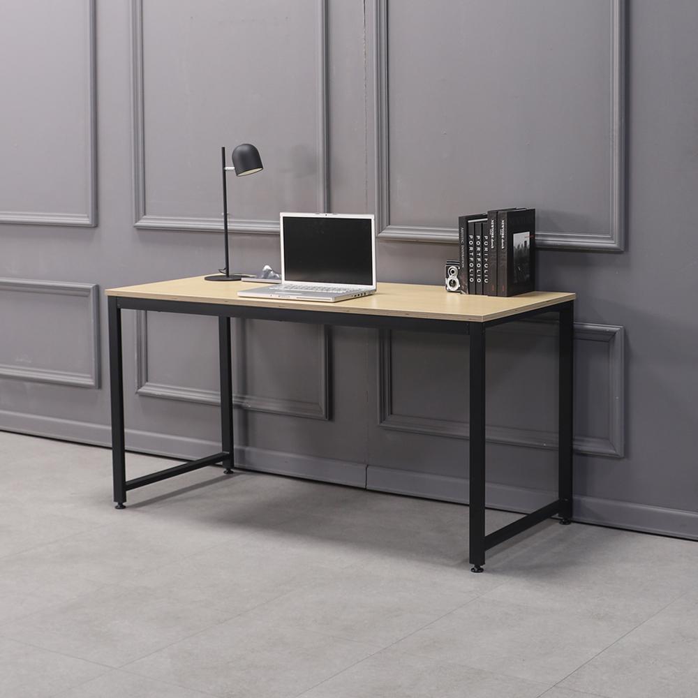 소프시스 알파 스퀘어 테이블 1460, 판넬(오크), 프레임(블랙)