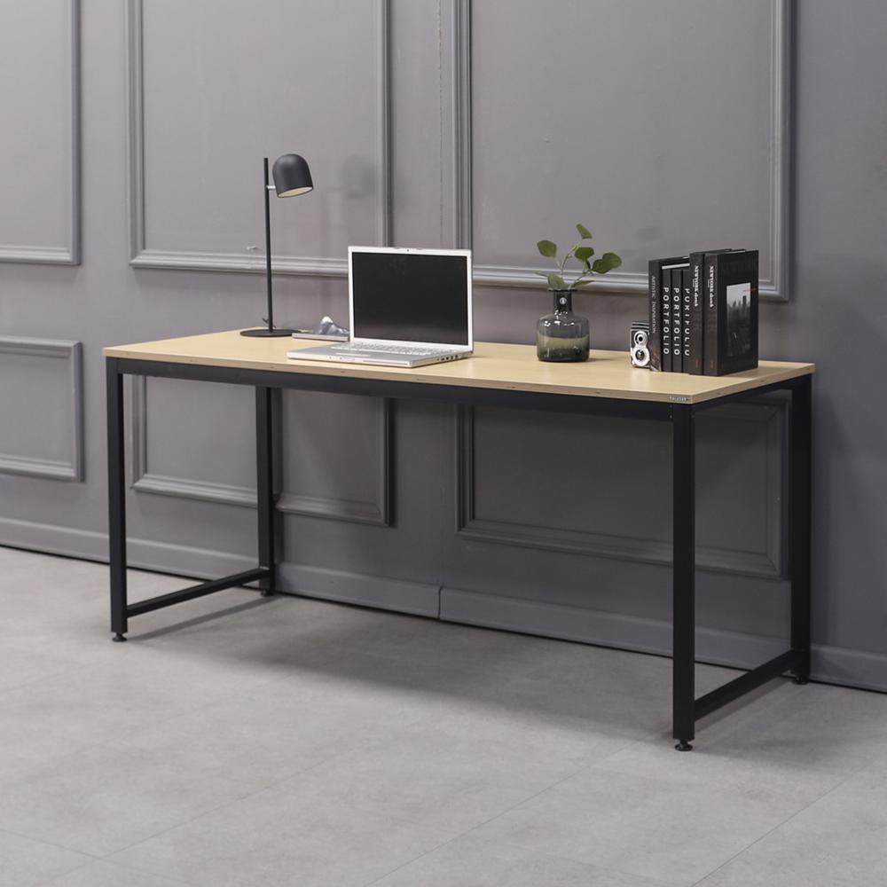 소프시스 알파 스퀘어 테이블 1660, 판넬(오크), 프레임(블랙)