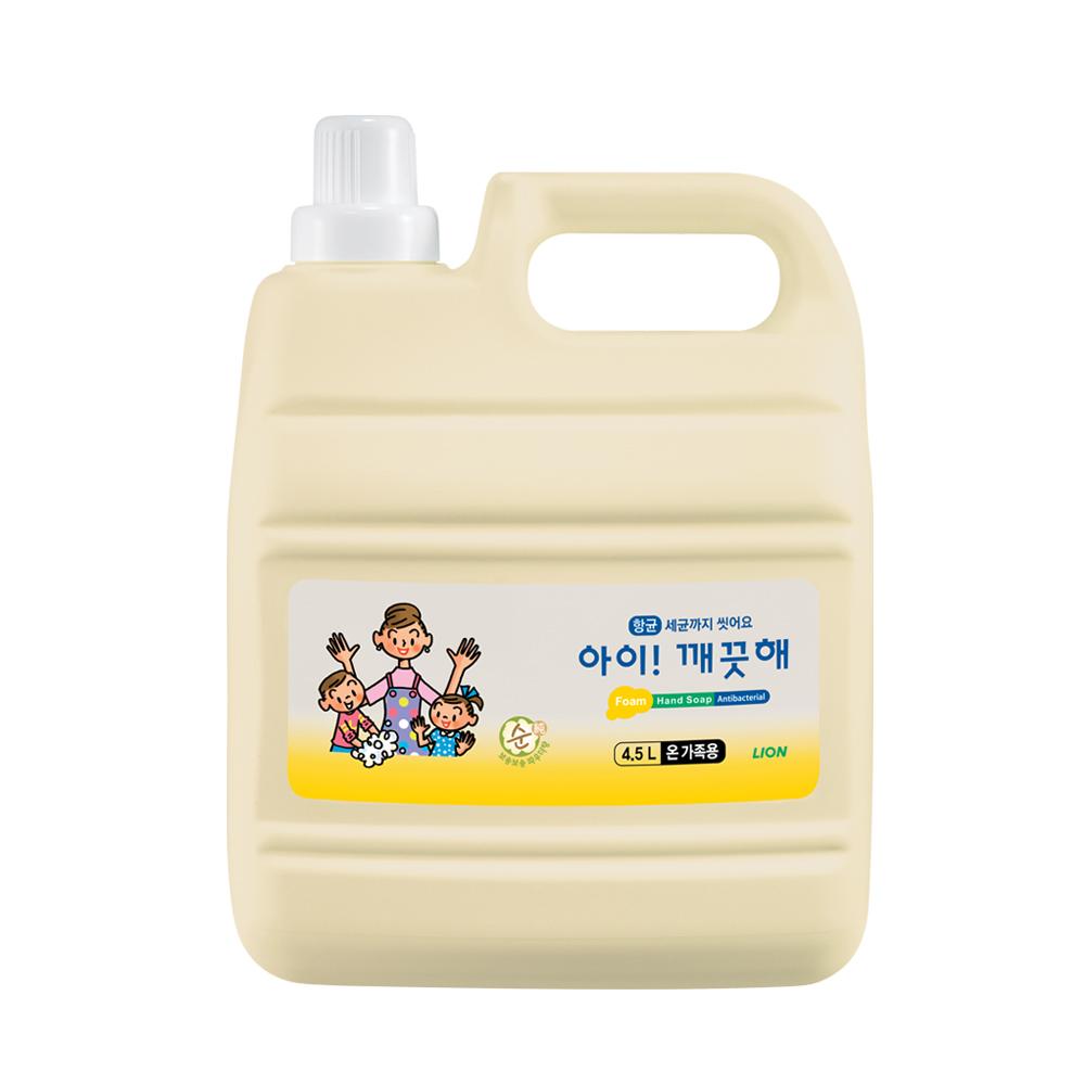 아이깨끗해 핸드솝 4.5L, 순 온가족용, 1개