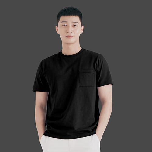 지오지아 남성용 코튼 포켓 THE GREAT 티셔츠 ABA2TR1101, BK