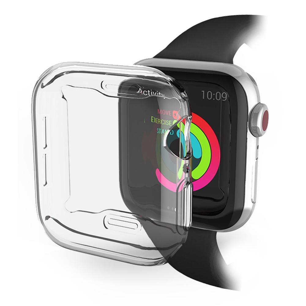 킹콩 스마트 워치 풀커버 투명 TPU 젤리케이스 애플워치4/5 40mm, 단일색상, 1개