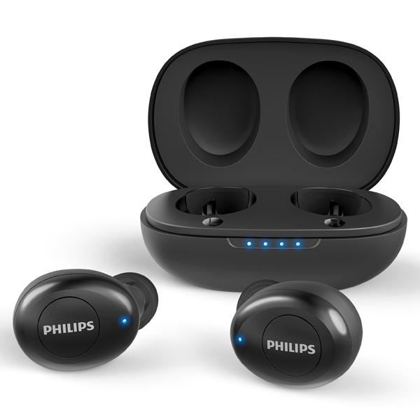 필립스 완전 무선 블루투스 5.0 이어폰, TAUT102, 블랙