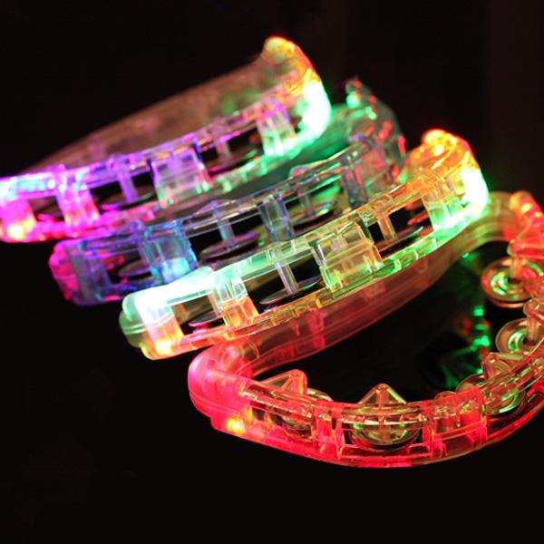 LED 탬버린 22cm, 랜덤 발송, 4개