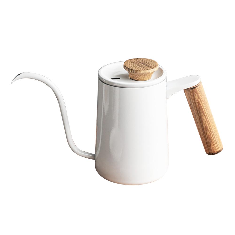 칼딘 브루오 커피 핸드 드립 포트 600ml, 화이트, 1개