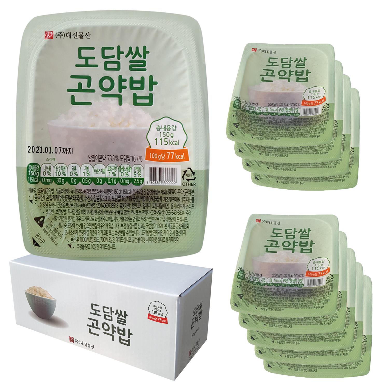 대신곤약 저항전분 도담쌀 곤약밥, 150g, 10개