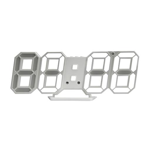 시프이컴 3D LED벽시계 DS-6609W, 화이트