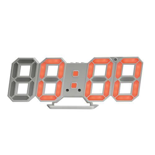 [쿠팡 직수입] 시프이컴 3D LED벽시계 듀얼 DS-6609WO, 오렌지 + 화이트