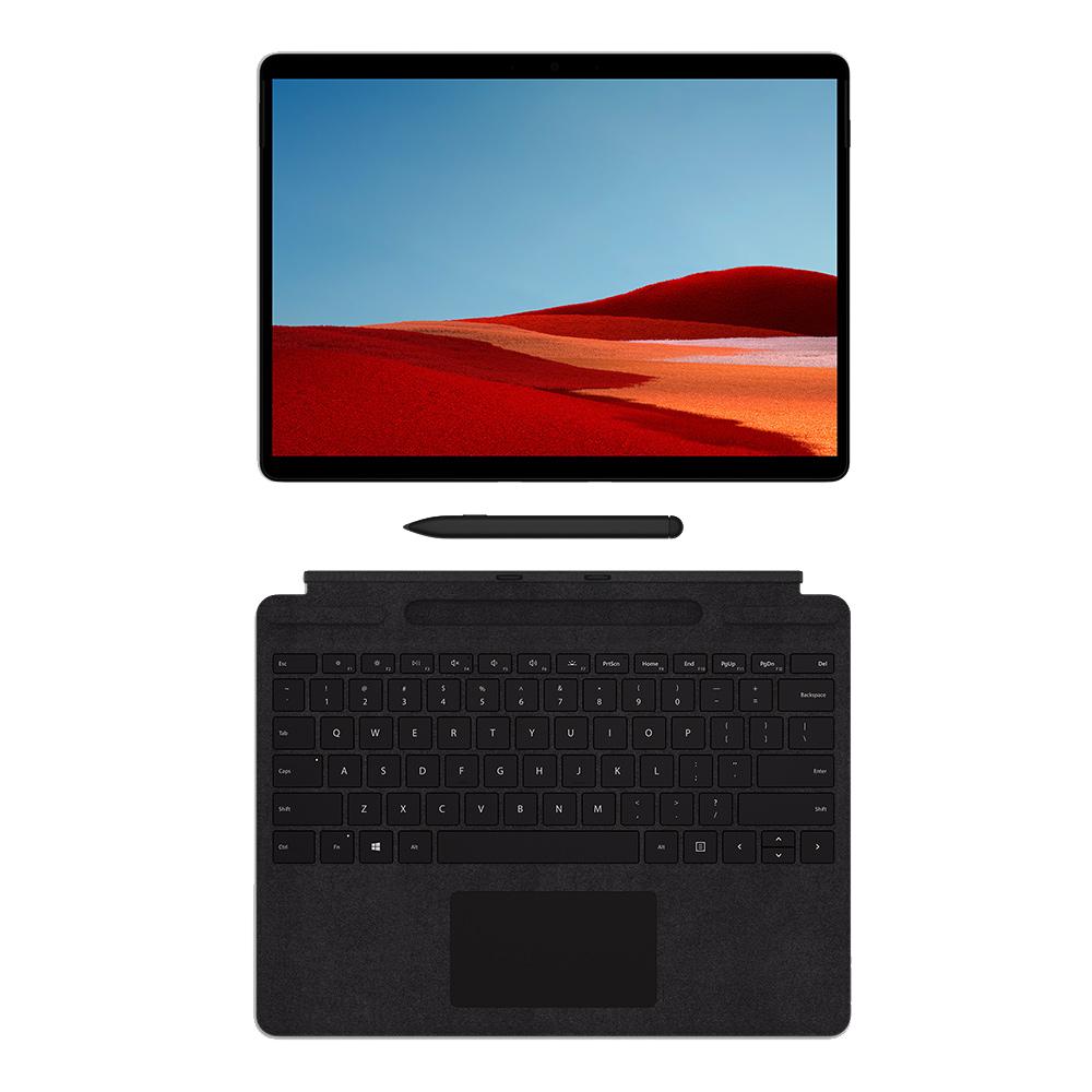 마이크로소프트 서피스 프로X 태블릿PC SQ1 8GB + 타입커버 + 슬림펜 패키지, Wi-Fi+Cellular, 매트블랙, 256GB, MNY-00008
