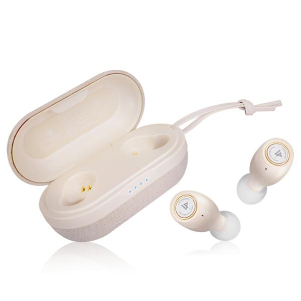 라이퍼텍 테비 완전무선 블루투스 이어폰, LPT01BK, 아이보리
