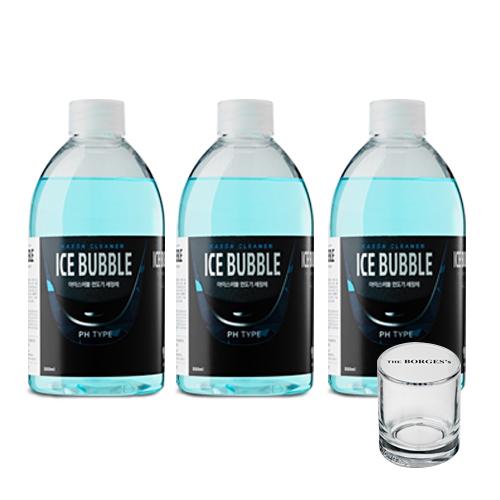 아이스버블 필립스 호환 PH타입 면도기세정액 500ml x 3p + 세척용 유리컵