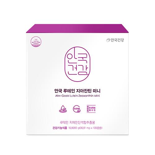 안국건강 루테인 지아잔틴 미니 + 쇼핑백, 120개입, 1세트