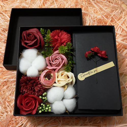 이지플 비누꽃 사랑 용돈박스, 레드화이트혼합