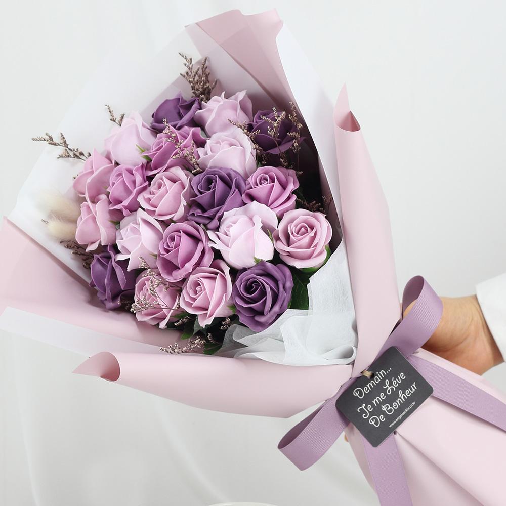 조화 S5 바네사 20송이 비누꽃부케, 바이올렛