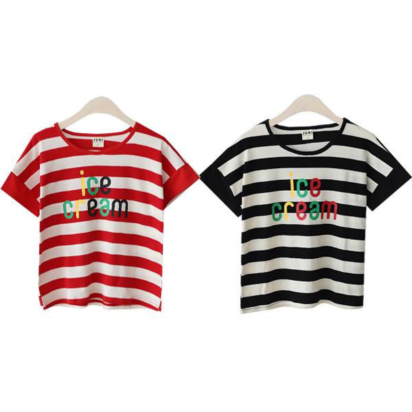 아동용 아이스크림 티셔츠 2종 세트