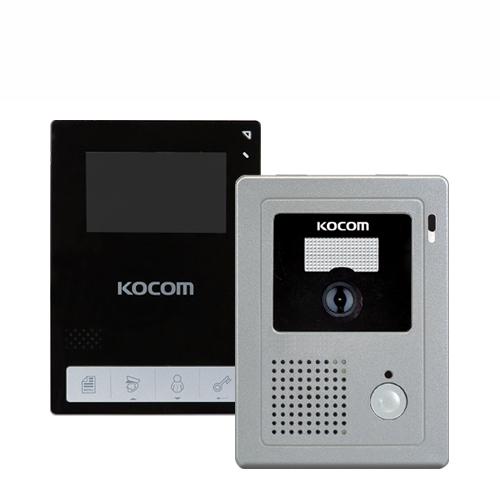 코콤 비디오폰 KCV-434B 블랙 + 현관 카메라 KC-C60 세트, 비디오폰(KCV-434B), 현관카메라(KC-C60)