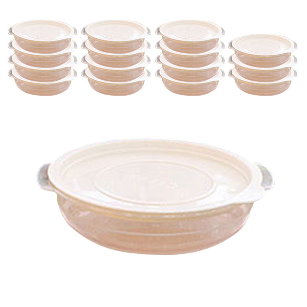 가쯔 심플쿡 냉동밥 전자렌지용기 아이보리 450ml, 16개, 단품