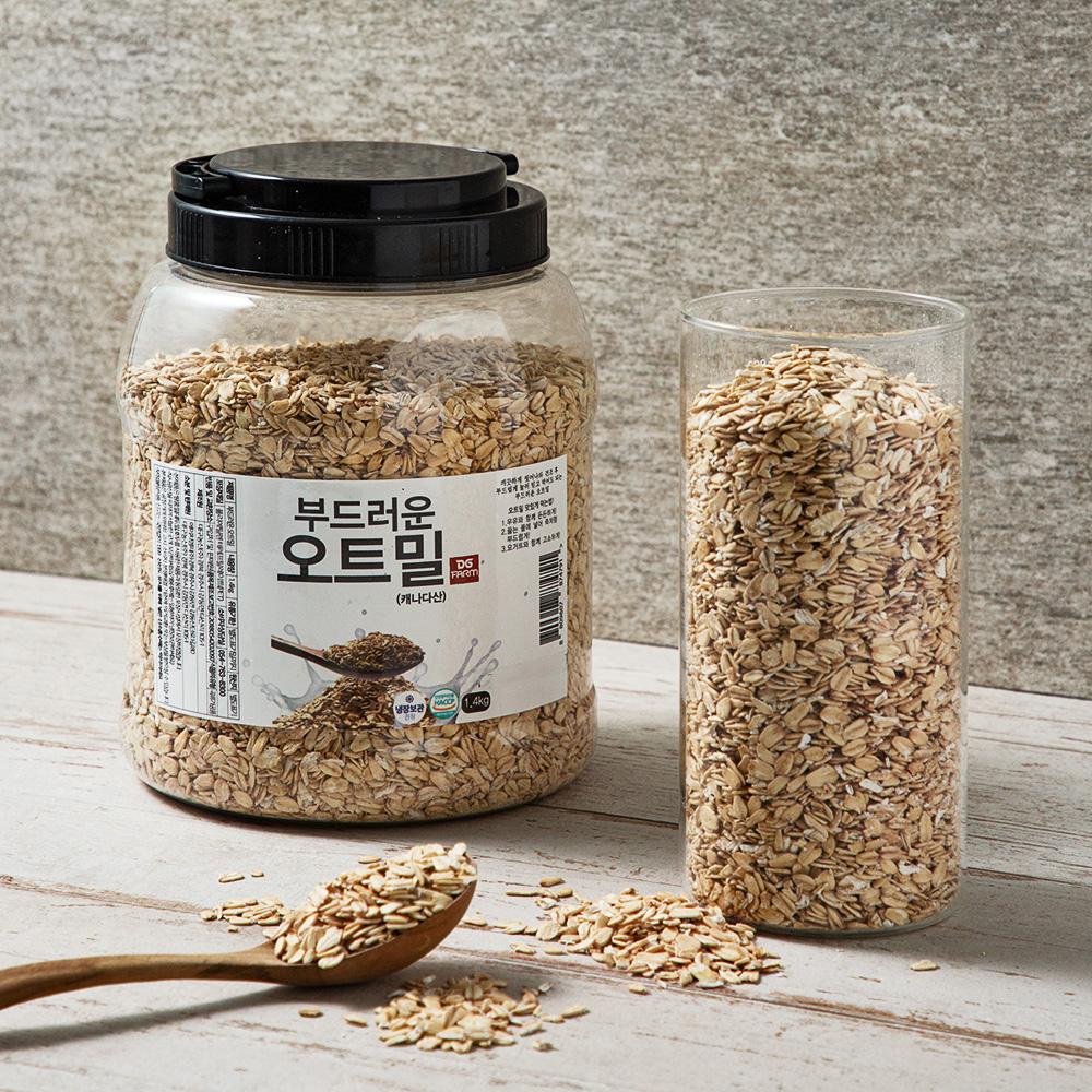 대구농산 간편한 부드러운 오트밀, 1.4kg, 1통