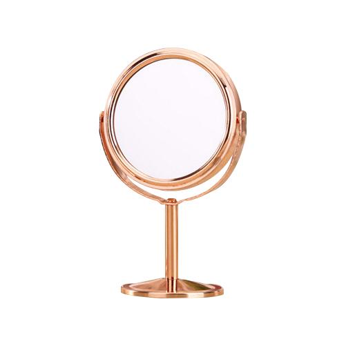 아던샵 원형 미니 탁상거울, 로즈골드