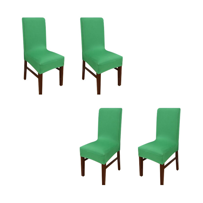 아리코 식탁 의자 커버 4p, 그린