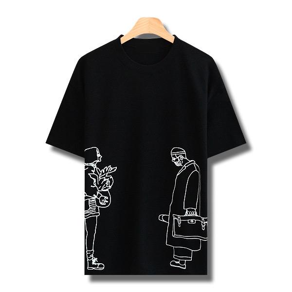 꼰스 남녀공용 레옹 마틸다 반팔 티셔츠