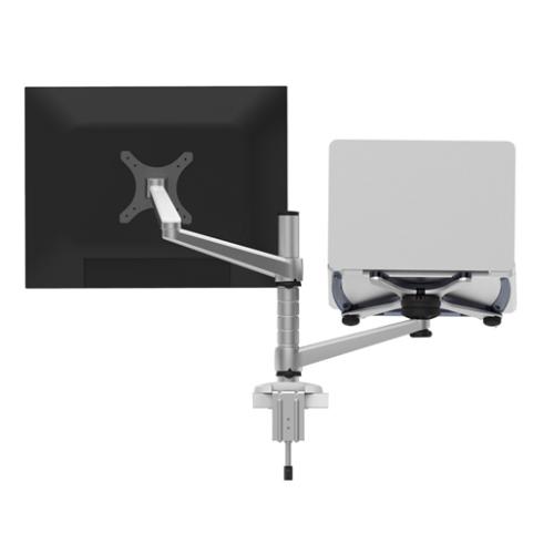 애니클리어 데스크톱 모니터 노트북 듀얼 암 거치대 스탠드 OA-7, 혼합색상, 1개