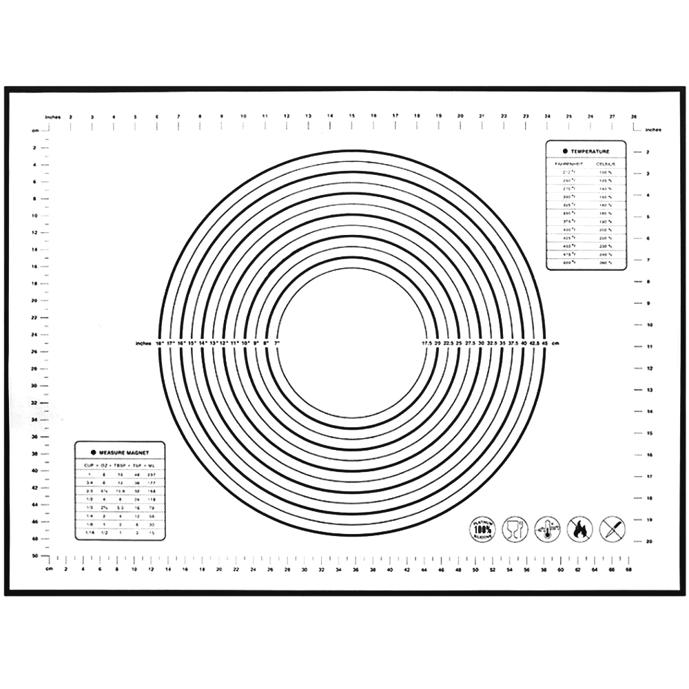 세븐프리 실리콘 반죽매트 특대형 블랙, 1개