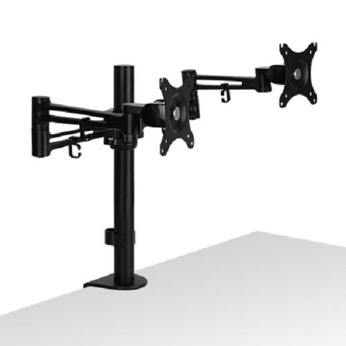 NETmate 3단 관절형 듀얼 모니터 거치대 NMA-LT212, 혼합색상, 1개