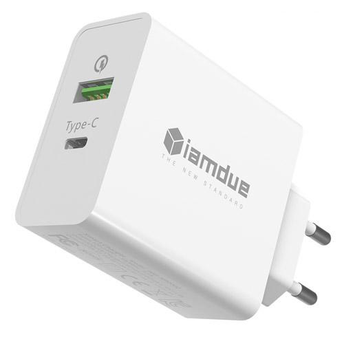 [퀵차지 3.0] 아이엠듀 USB PD 퀵차지3.0 멀티 고속 충전기 ZX-2U18T, 혼합색상, 1개 - 랭킹9위 (15030원)
