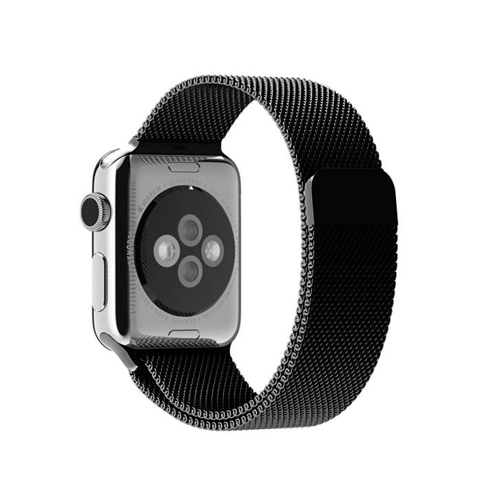 디씨네트워크 애플워치 1 2 3 4 5세대 공용 42 44mm 호환 밀레니즈 루프 밴드, 블랙, 1개