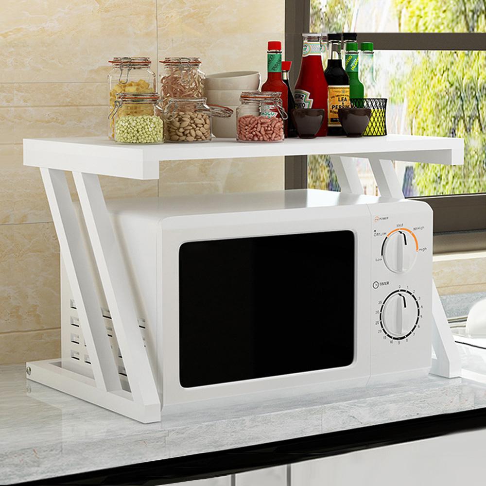 21세기트랜드 디자인 전자레인지 선반, 화이트