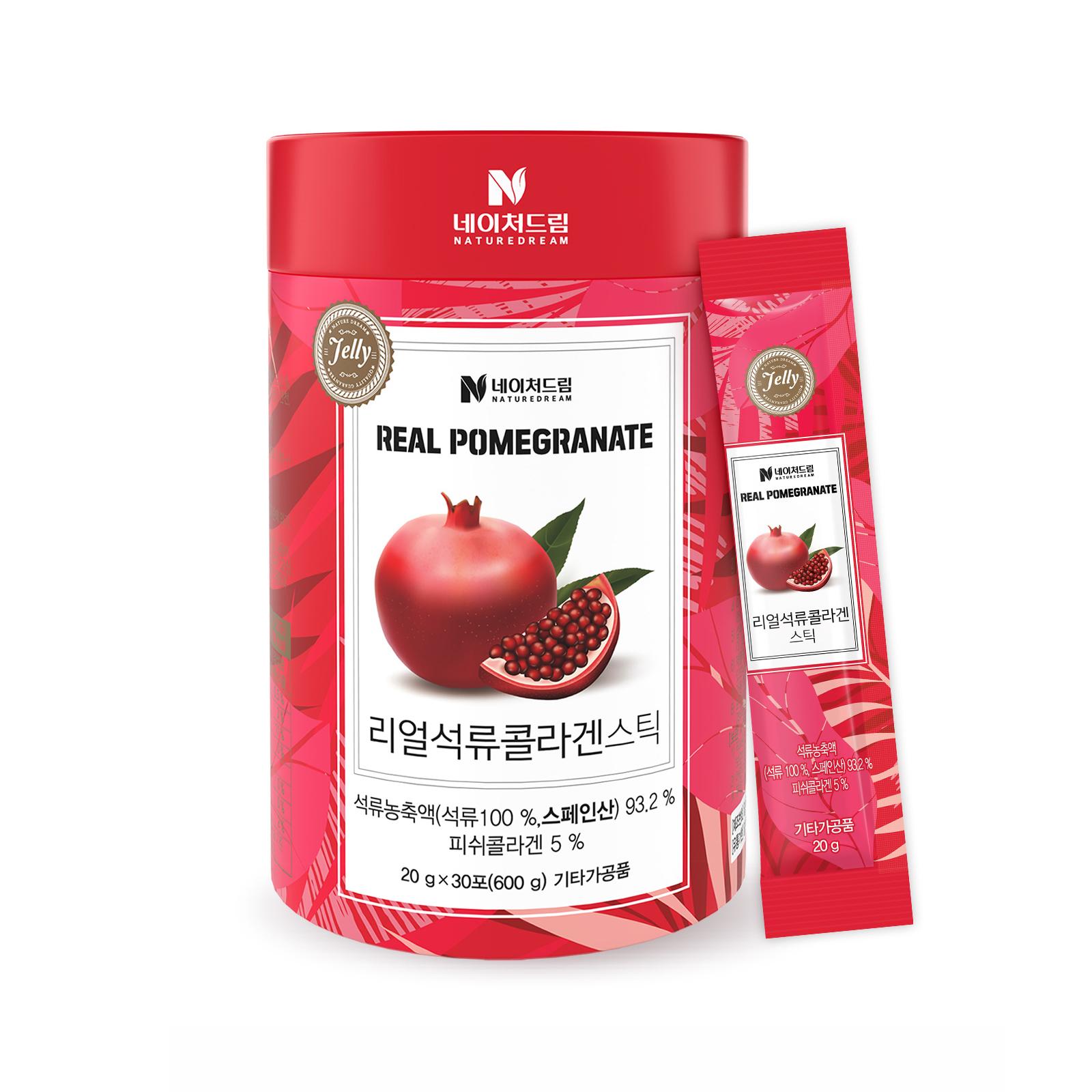 네이처드림 리얼 석류콜라겐 젤리스틱, 20g, 30개