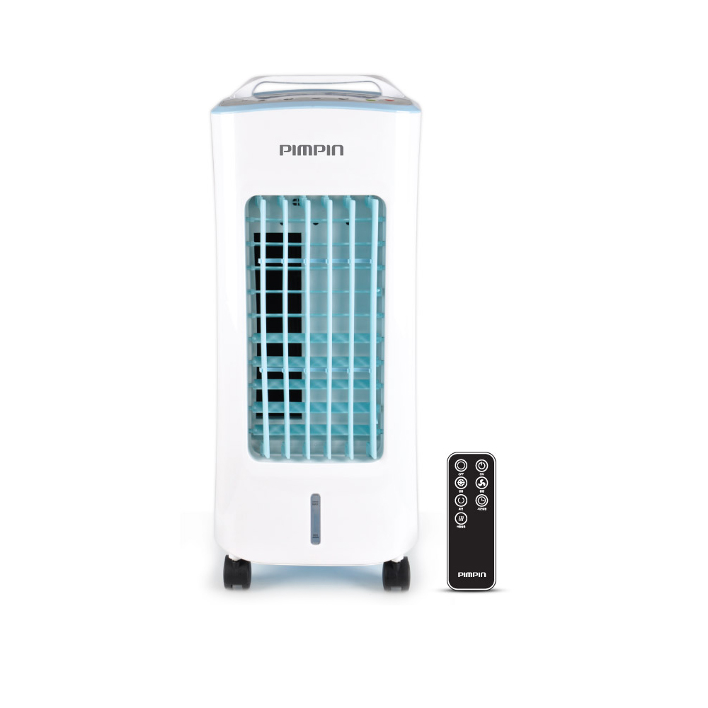 핌핀 파워 에어쿨러 리모컨 이동식 냉풍기 + 냉매팩 2p, PA-9122 (POP 1406281820)
