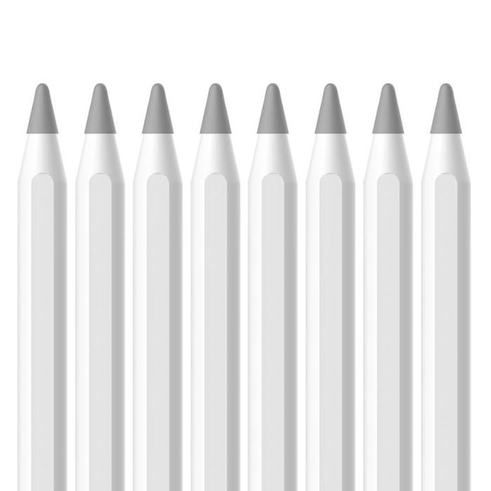 디씨네트워크 애플펜슬 팁 커버, 그레이, 8개