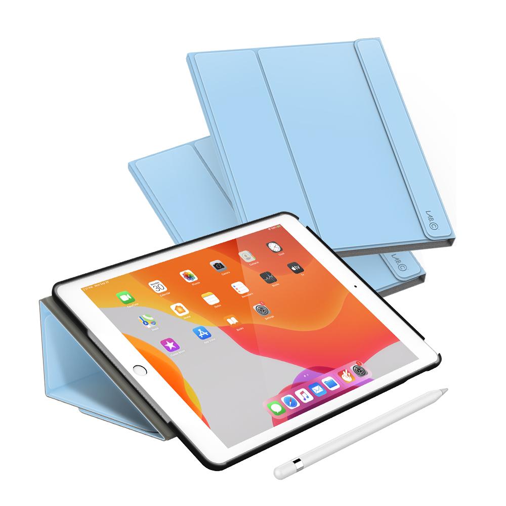 랩씨 마카롱 스마트 커버 태블릿PC 케이스, 파스텔 블루
