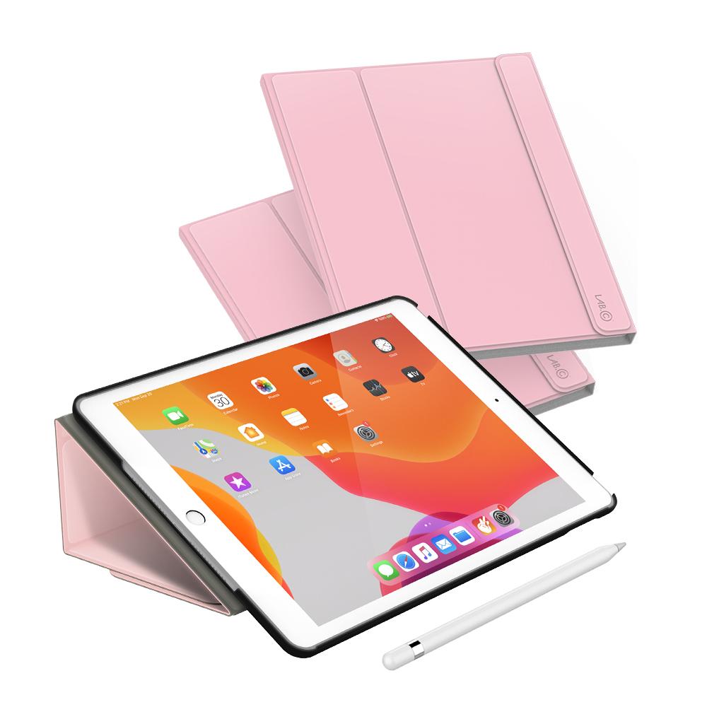 랩씨 마카롱 스마트 커버 태블릿PC 케이스, 핑크샌드
