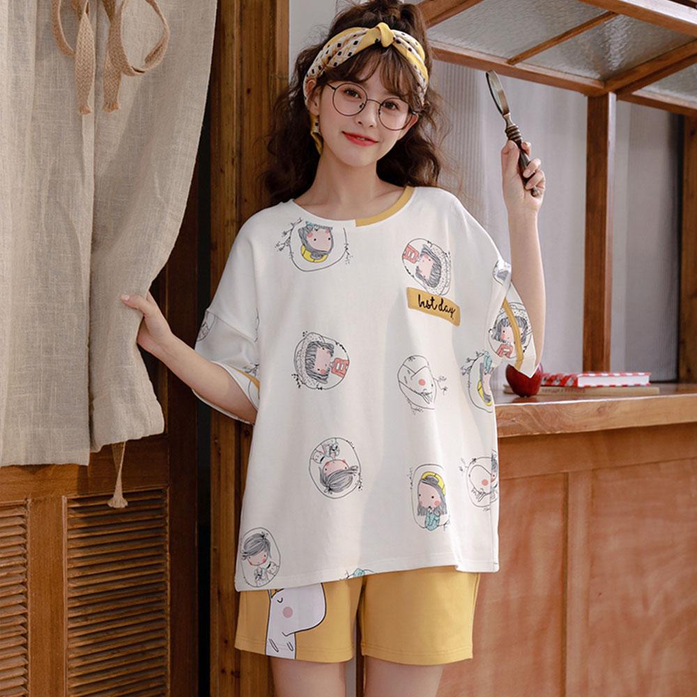 글램공감 여성용 소녀 투피스 잠옷 홈웨어