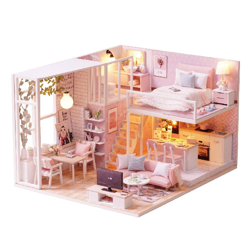 DIY 미니어처 하우스 핑크하우스, 혼합색상