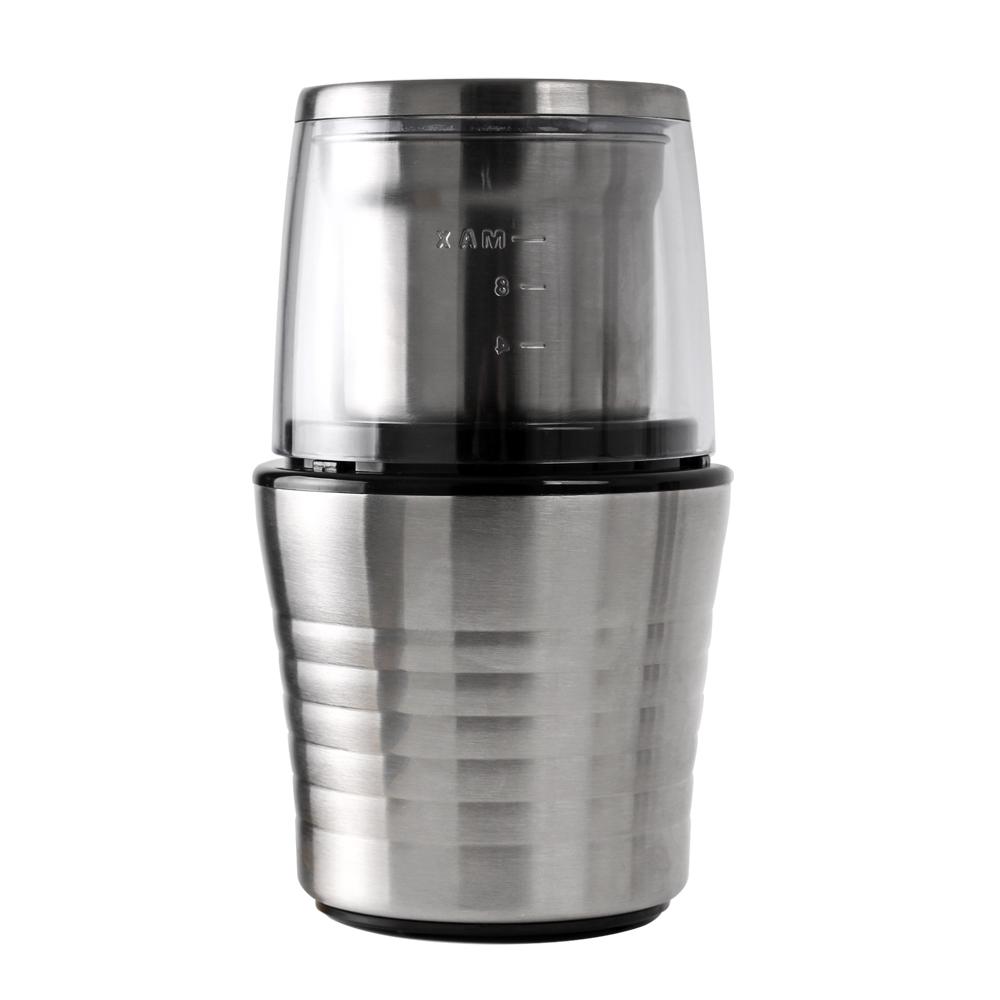 칼딘 디테처블 전동 커피 그라인더 푸쉬 다운 KWG-130B, 실버, 1개