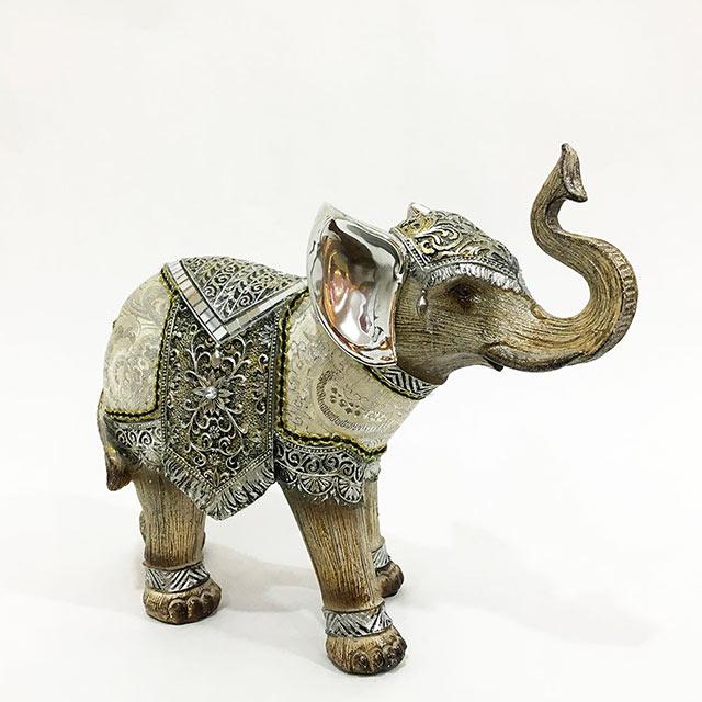 행운의 실크 코끼리 장식품 LK12596, 혼합색상