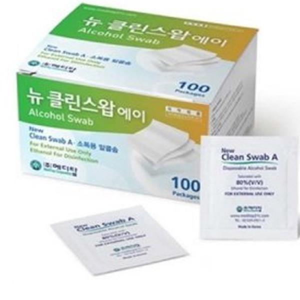 메디탑 뉴클린스왑 에이 소독용 알콜솜, 100개입, 1개