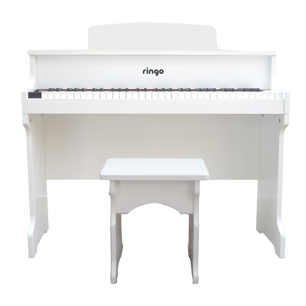 링고 키즈 61건반 디지털 피아노 RP-125 + 의자, 화이트